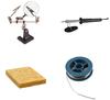 New Soldering Starter Tool Kit - 30W Iron, Solder, Sponge & Helping Hand Good