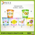 Nuevo producto de jardín decoración de metal decorativo de plástico plantador de la flor