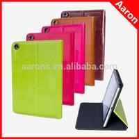 For oil wax pattern genuine leather ipad mini 2 case