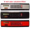 solar desktop calculator with ruler for office promotion
