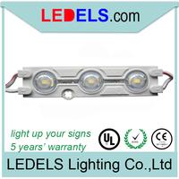 led light modules strip Osram/Samsung 5630 LED waterproof IP66 120lumen 1.2Watt 160 wide angle lighting for signage