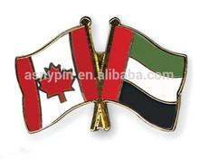 Crossed Flag Pins Canada - United Arab Emirates Lapel Hat Pins - Friendship