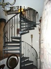 wrought iron spiral staircase,indoor stair