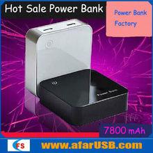 slim portable power bank,usb power bank 7800 mah,small size 5v power supply battery backup