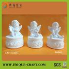 2014 Home Decorative Cute and Smiling Cherub Angel Statue china Wholesale angel figurine