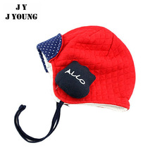 KD-A928 warm cute cotton red baby winter hat with earflaps