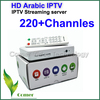 HD Arabic iptv box ,with more than 220 channels /Qnet network player /iptv streaming server