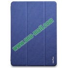 Magnetic Flip Transparent PC and PU Leather Tablet Case for iPad Air