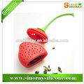 silicone de alta qualidade de morango chá infusor de sinoray