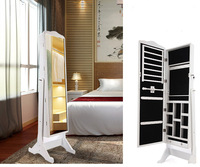 fashion wood mirror jewelry and costume cabinet