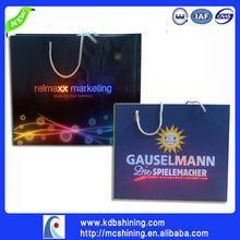 Shenzhen manufacture led light customized paper bag with your logo