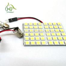 36 LED 1210 3528 SMD Car Interior Light Panel Bulb T10 Dome BA9S adp White