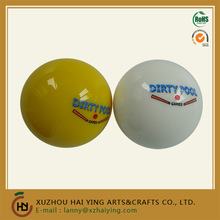 2 1/4 billiard balls with Dirty pool LOGO