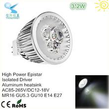 china wholesale instock daylight dimmable 3*2w mr16 led spotlight bulb