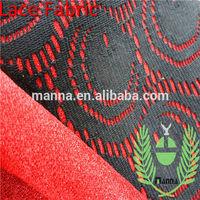 Textile fabrics red lace long dress big eyes guipure bond lace fabric
