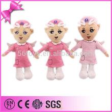 custom cartoon doll angle baby doll nurse plush toy for kid