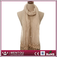 Wholesale high quality lady soft loop voile ethiopian scarf