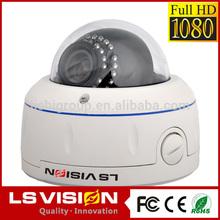 LS VISION night vision indoor color cctv cmos security cam vandal 1080p hd-sdi indoor dome camera 3-axis 2.8-12mm