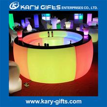 led circular mobile bar counter