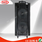 dual 12 inch large 400w portable speaker with trolley usb sd tf card port