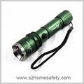 Uniquefire verde levou lanterna chaveiro com zoom 3.7v levou lanterna com laser pointer