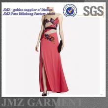 New fashion latest design lady sexy chiffon maxi dresses, long dress with print pattern