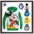crianças de meninos e meninas de manga comprida hoodies casaco de mickey mouse roupa