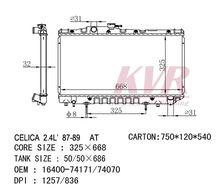 Car Radiator For TOYOTA CELICA 2.4L'87-89 AT OEM:16400-74070/74171