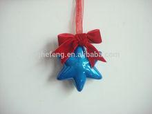 Christmas plastic hanging 6 point star decoration