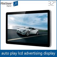 Flintstone 32 inch apple style promotion display,merchandise displays thin lcd display