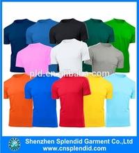 Colorful t shirt custom plain cotton t shirt