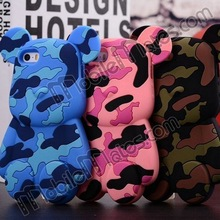 14 Styles Cute 3D Gloomy Bear Silicone Mobile Phone Cover Case for iPhone 4/5/5S/5C Samsung Spiderman Stars Stripes Camouflage