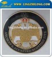 33rd Degree SJ Eagle Gold Round Indoor Wall Emblem- Legion Riders