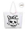 skull printing halloween cotton canvas tote bag