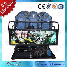 2012 hot sale 5d cinema simulator 3d cinema theater equipment system with Fiberglass Cinema Seats