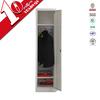 Corner white wardrobe closet with hanging rod & 2 shelves