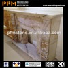 latest natural best price marble made beautiful cheap marble gas yellow fireplace design
