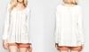 Ladies Blouse fashion cotton blouse design Long sleeve