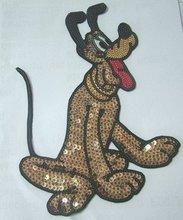 Cartoon dog iron-on patch