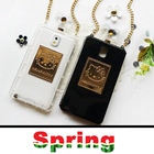 2014 New Fashion Luxury Brand Perfume Bottle Case Cover for iphone 4/4S 5/5S Hello Kitty Case with Chain&Box Clear/Black Color