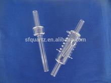 high precision clear quartz digestion tube