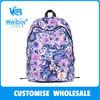2014 new fashion floral oem fashionable canvas knapsacks
