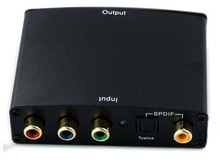 1080p HD Component AV RGB Video & S/PDIF Coaxial/Optical Toslink Digital Audio to HDMI Converter