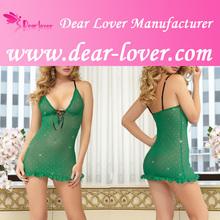 2014 wholesale transparent green Babydoll