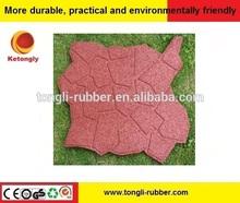 Muti-functional Brick-top Pattern Interlocking Rubber Tile For Floor