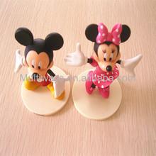 3d plástico brinquedo dos desenhos animados de mickey mouse