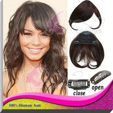 100 cheap remy medium brown 4# color brazilian remy human hair nail bangs