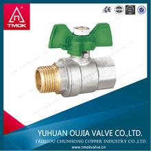 brass ball valve teflon gasket npt female thread male brass one way ball valve