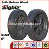 Qingdao semi pneumatic rubber wheel, 5 inch swivel rubber caster wheels