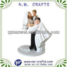 Resin wedding cake topper figurine crafts